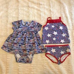 Vineyard Vines Baby Onesie Dress & Tankini 6-12 mo
